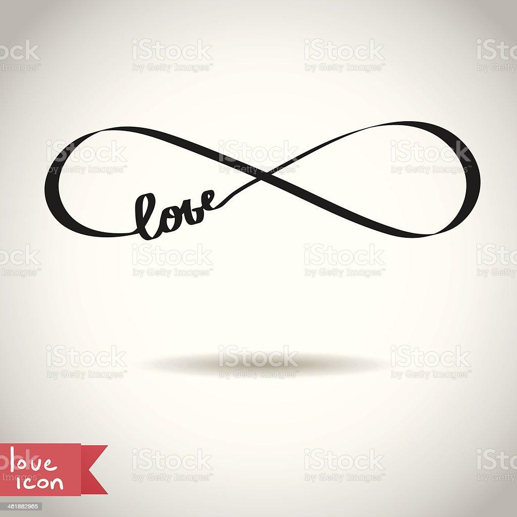 Eternal love icon vector art illustration