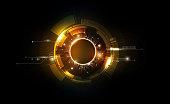 Ethereum digital currency, futuristic digital money, gold technology worldwide network concept, vector illustration