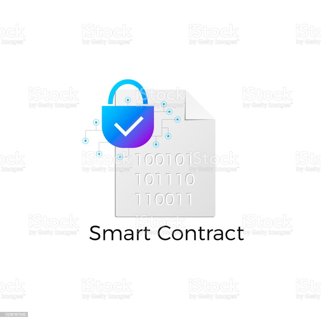 Ethereum Smart Contract Icon Royalty Free Stock Vector Art Amp