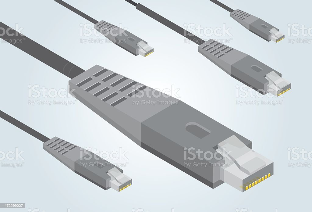 Ethernet cables royalty-free stock vector art