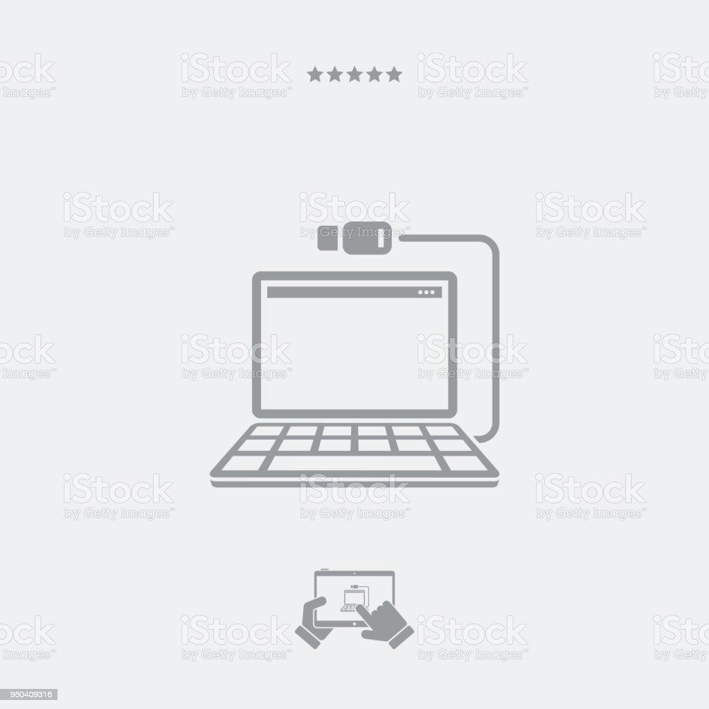 Ethernet Oder Usbverbindungskabel Für Laptop Stock Vektor Art und ...