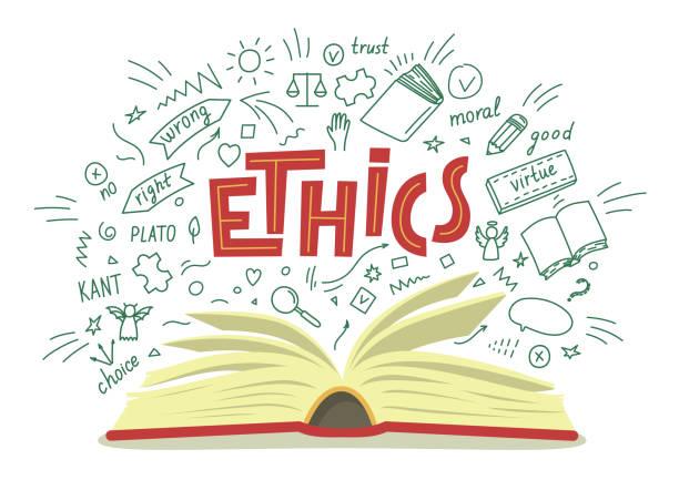 illustrazioni stock, clip art, cartoni animati e icone di tendenza di etica. - dilemma morale