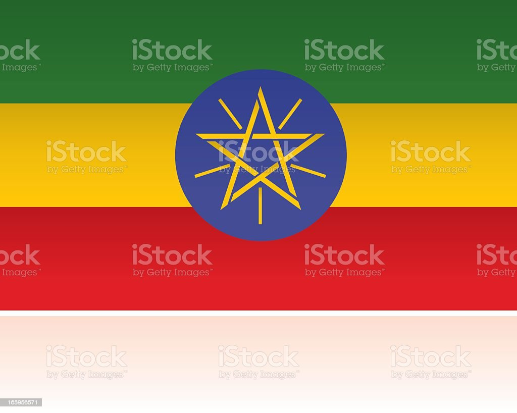 Ethiopia Country Flag, Eastern Africa royalty-free stock vector art