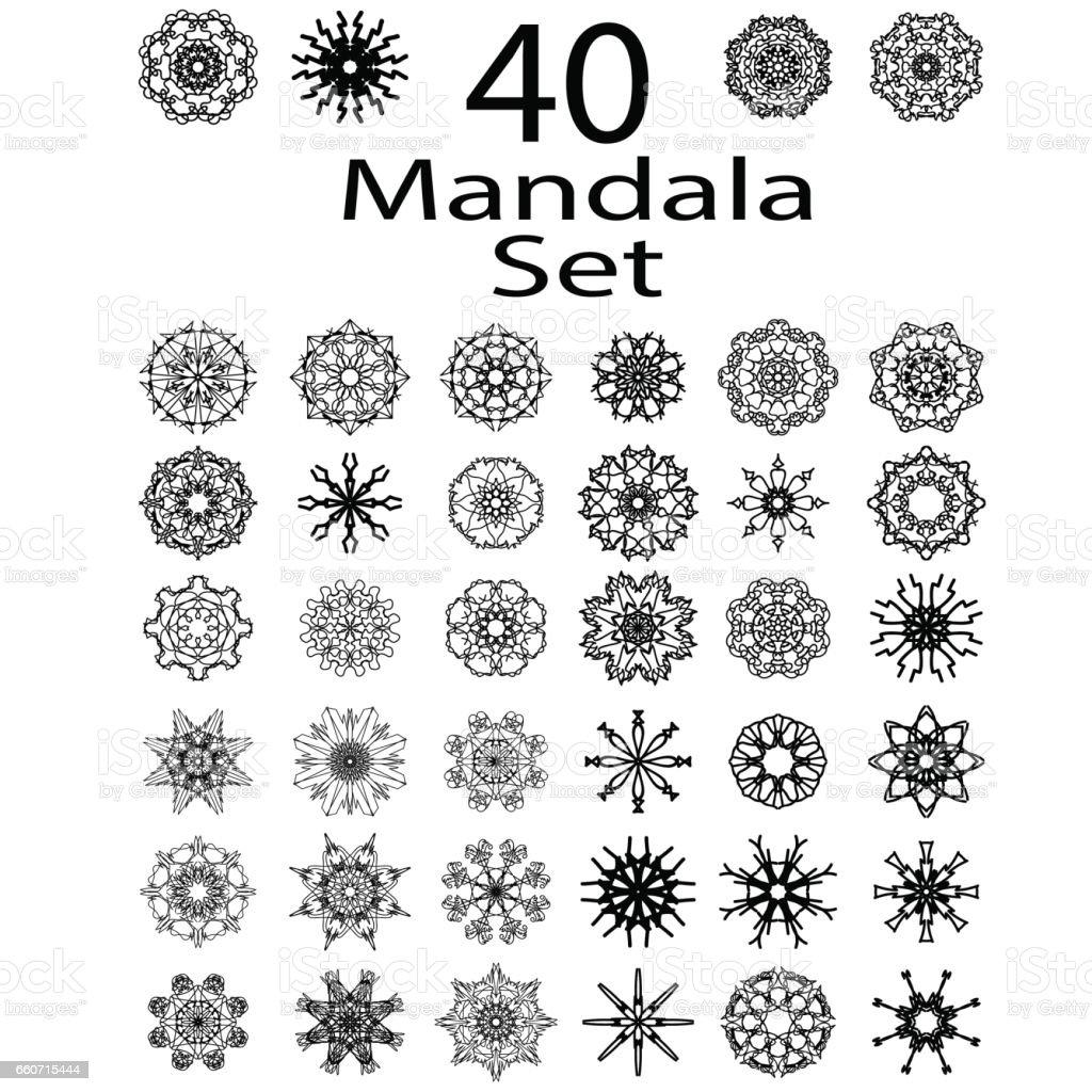 Ethnic Amulet of Mandala vector art illustration