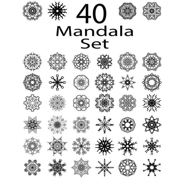 Amulette ethnique de Mandala - Illustration vectorielle