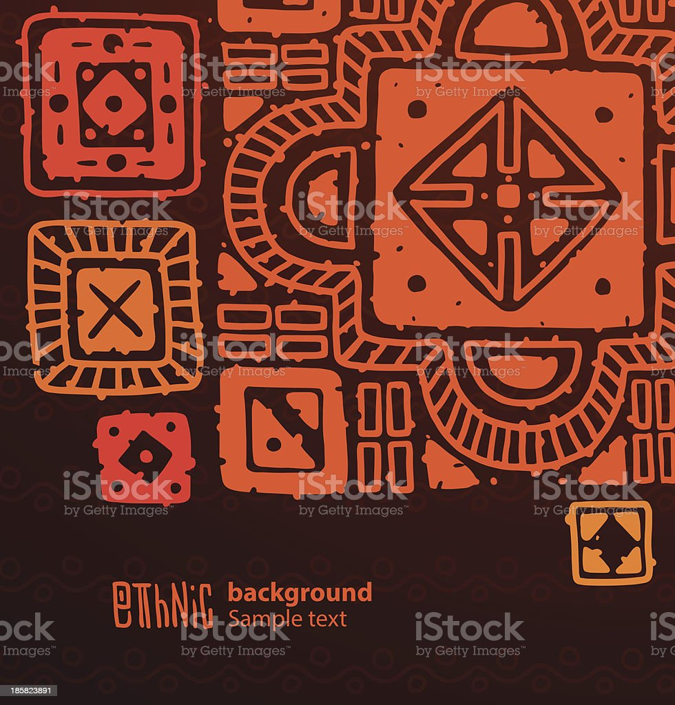 Ethnic background, big red and orange squares royalty-free ethnic background big red and orange squares stock vector art & more images of abstract