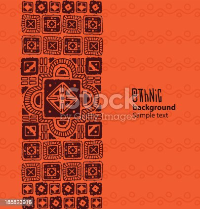 istock Ethnic background, brown squares from the left side 185823916