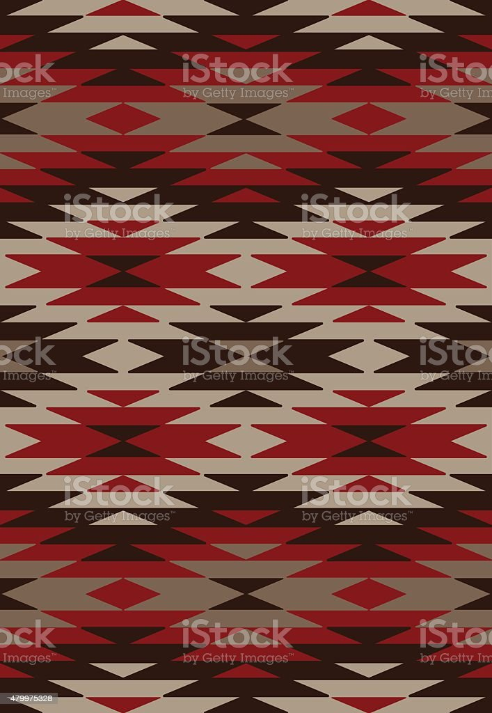 Ethnic background - Native American style vector art illustration