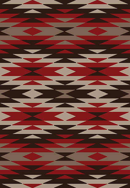 Ethnic background - Native American style Seamless geometric pattern in native American style indigenous peoples of the americas stock illustrations
