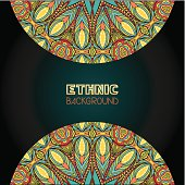 Ethnic Background With Bright Ornate Elements