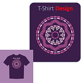 Ethnic boho ornament. Positive pattern on the t-shirt. Vector illustration for web design or print.