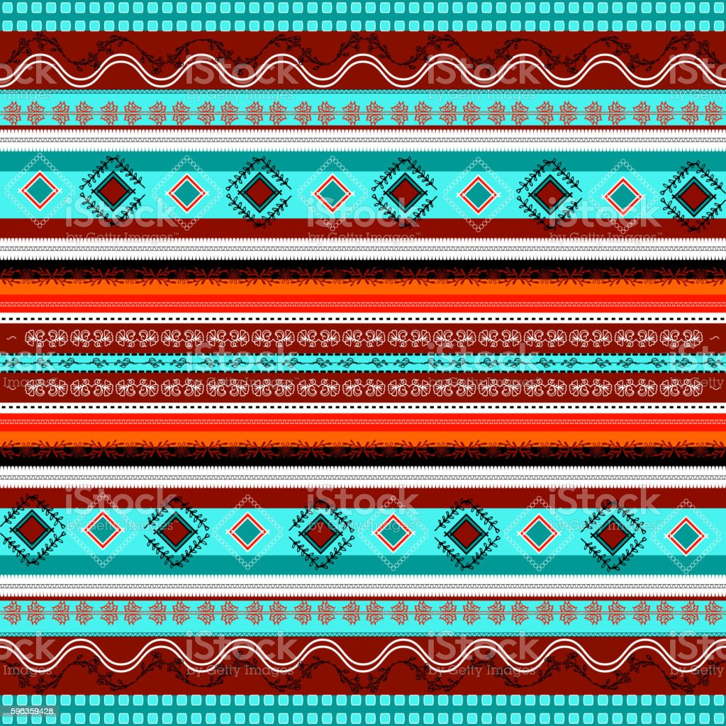 Ethnic boho seamless pattern. Colorful border background texture. royalty-free ethnic boho seamless pattern colorful border background texture stock vector art & more images of abstract