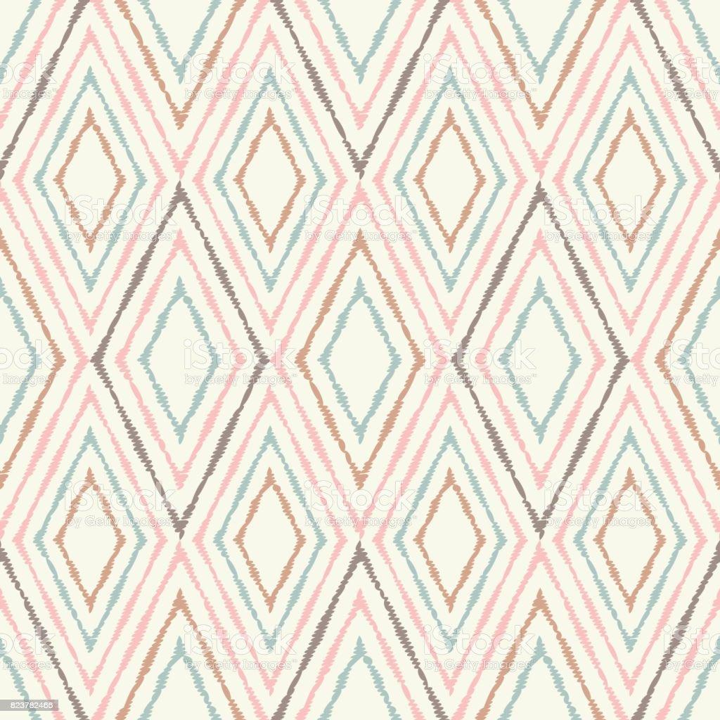 Ethnic boho seamless pattern. Retro motif. Textile rapport. vector art illustration