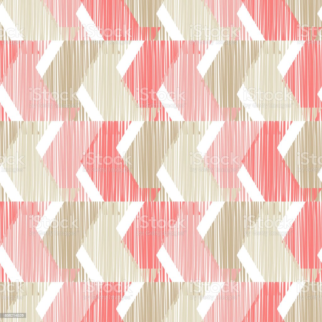 Ethnic boho seamless pattern. Scribble texture. Retro motif. Textile rapport. vector art illustration