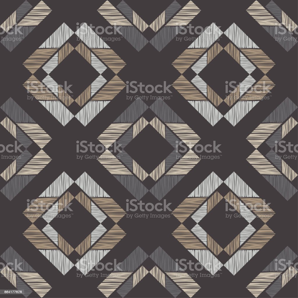 Ethnic boho seamless pattern. Scribble texture. Retro motif. Textile rapport. royalty-free ethnic boho seamless pattern scribble texture retro motif textile rapport stock vector art & more images of abstract