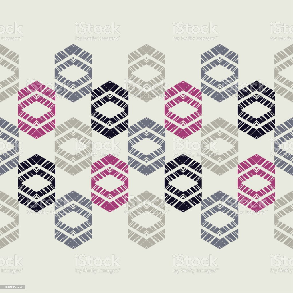 Boho étnico de patrones sin fisuras. Adorno tradicional. Fondo geométrico. Modelo tribal. Motivo popular. Rapport de la textil. - ilustración de arte vectorial
