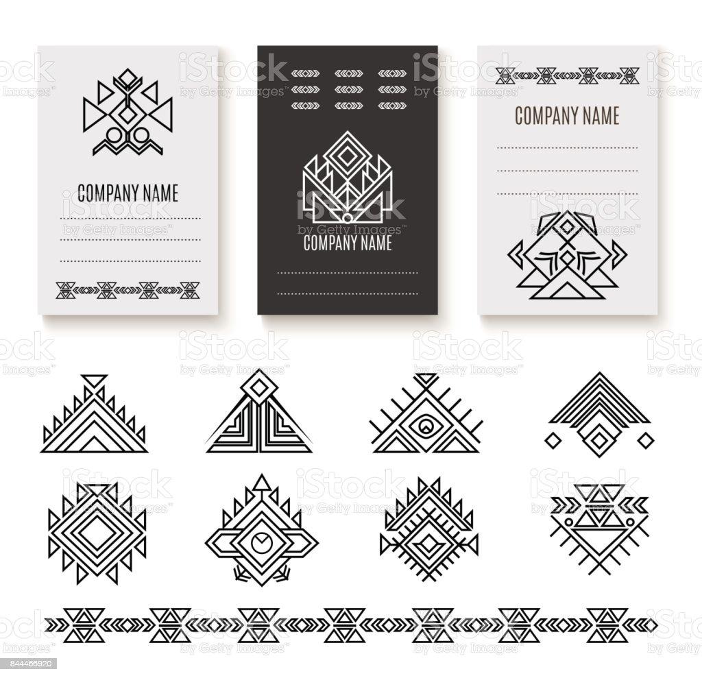 Ethnic corporate brochure template vector art illustration