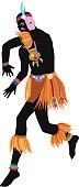 Ethnic dance african man