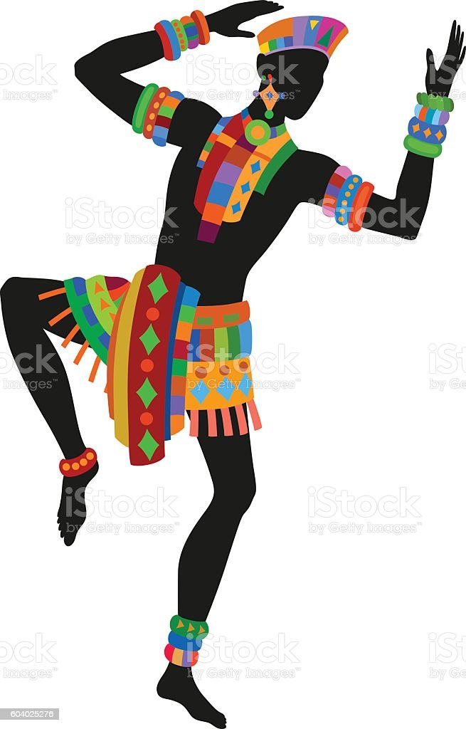 ethnic dance african man stock vector art more images of abstract rh istockphoto com African Dancers Afro Clip Art