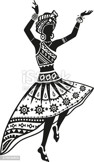 Ethnic Dance African Woman Stock Vector Art 576936800 Istock