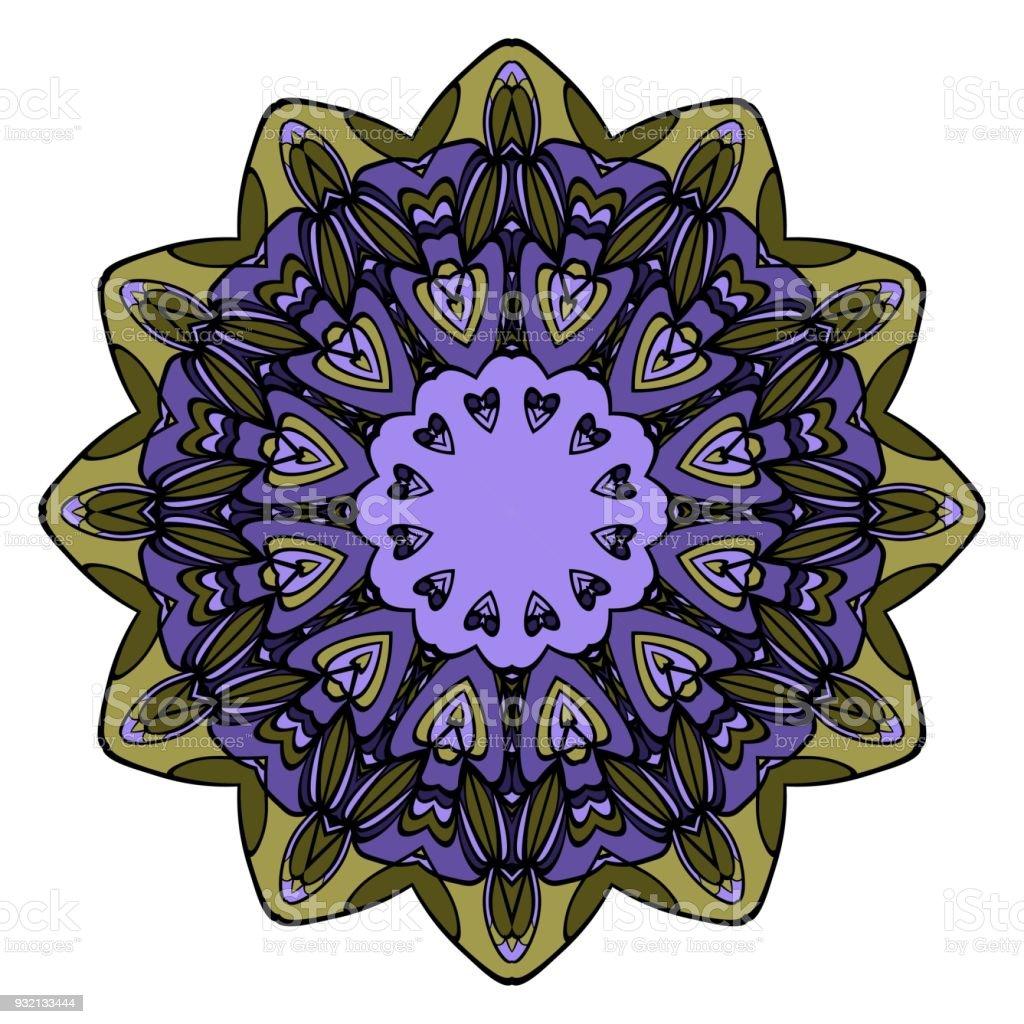 Cercle Delement Decoratif Ethnique Mandala Vector Toile De Fond