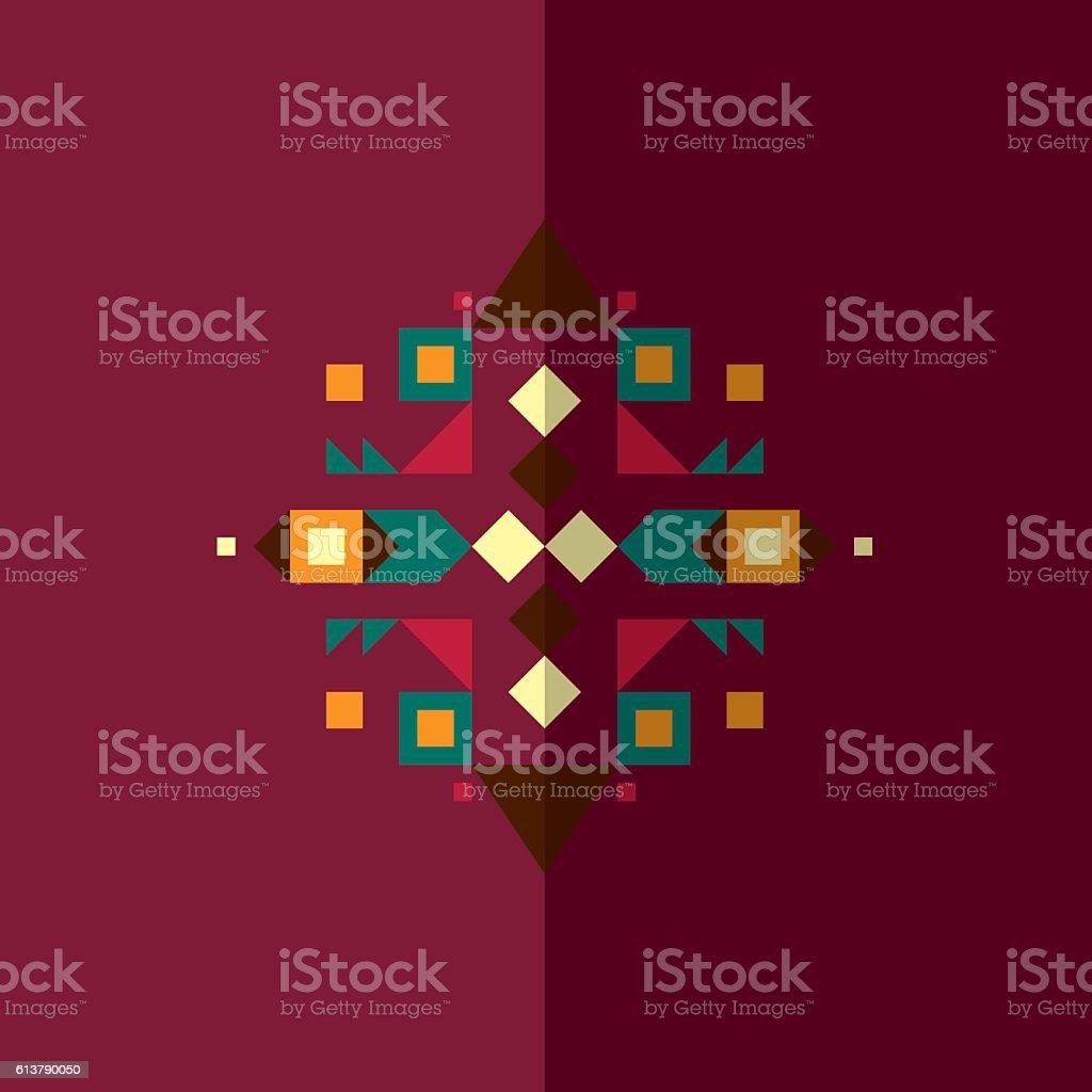 Ethnic design 6 vector art illustration