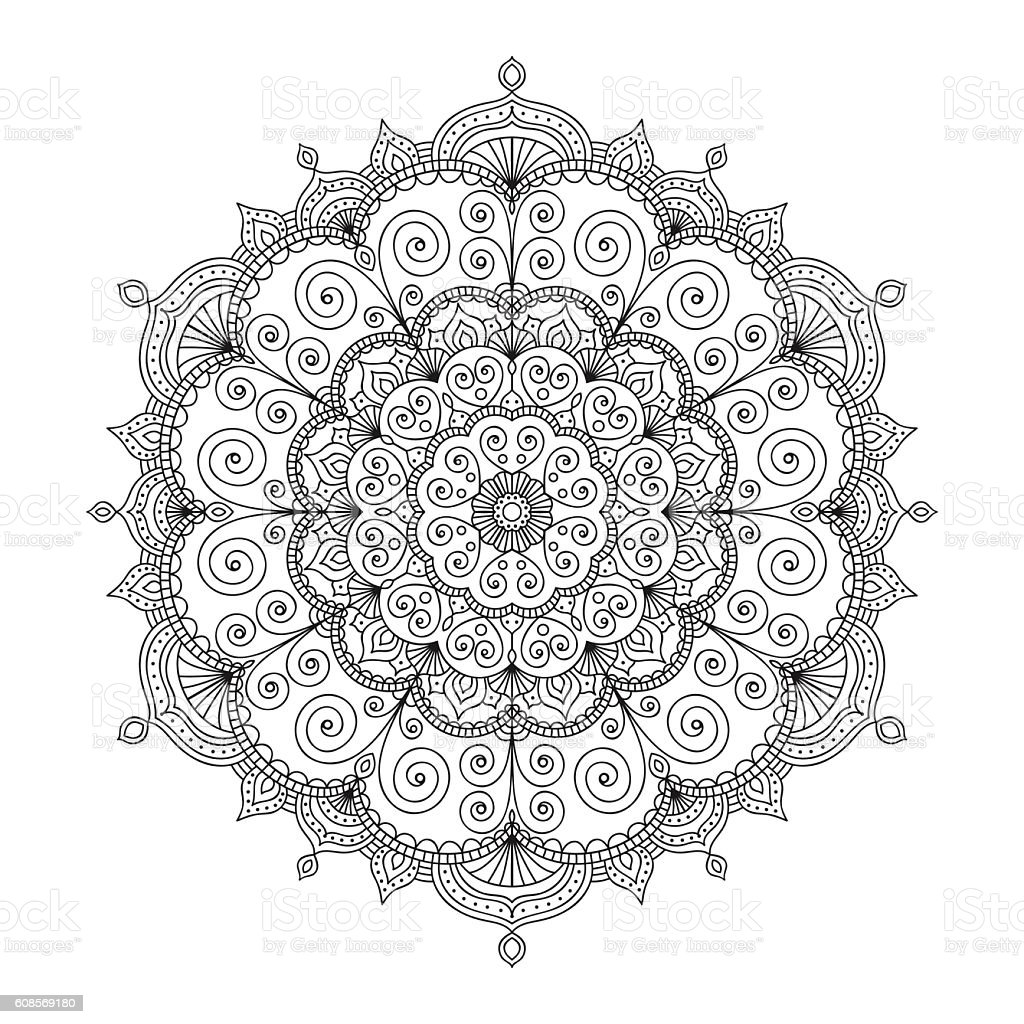 ethnic doodle mandala vector art illustration