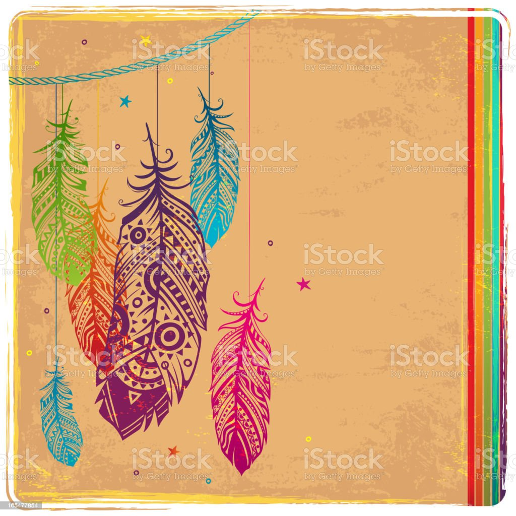 Ethnic Dream catcher royalty-free stock vector art