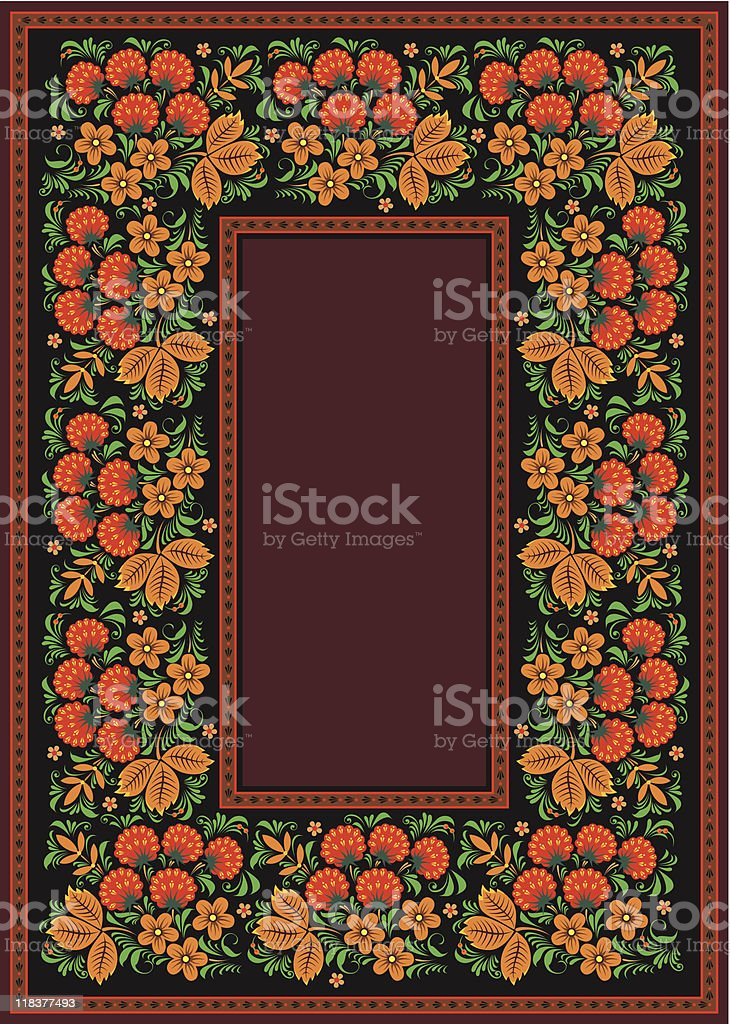 ethnic floral frame royalty-free stock vector art