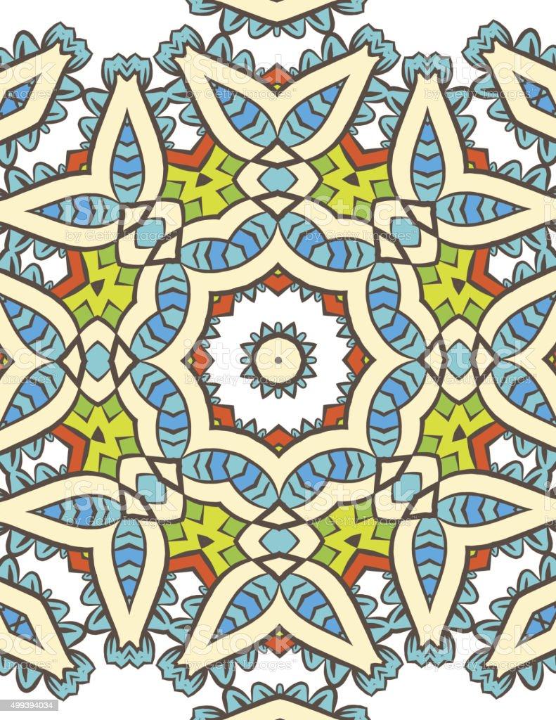 Ilustración De étnica Fractal Mandala O Maya Aztecas De Patrones De