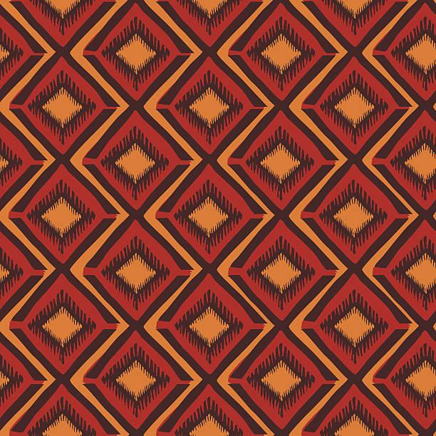 Ethnic geometric seamless pattern vector art illustration