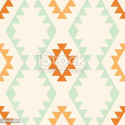 istock Ethnic geometric seamless vector pattern 454951675