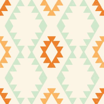 Ethnic geometric seamless vector pattern