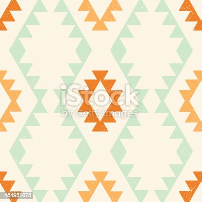Ethnic geometric seamless vector pattern with clipping mask, easily editable. EPS8 file.