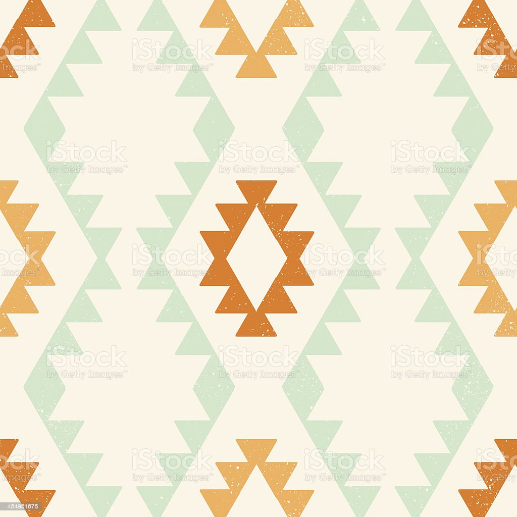 Ethnic geometric seamless vector pattern vector art illustration