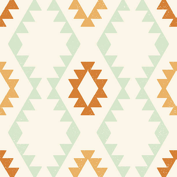 Ethnic geometric seamless vector pattern Ethnic geometric seamless vector pattern with clipping mask, easily editable. EPS8 file. indigenous peoples of the americas stock illustrations