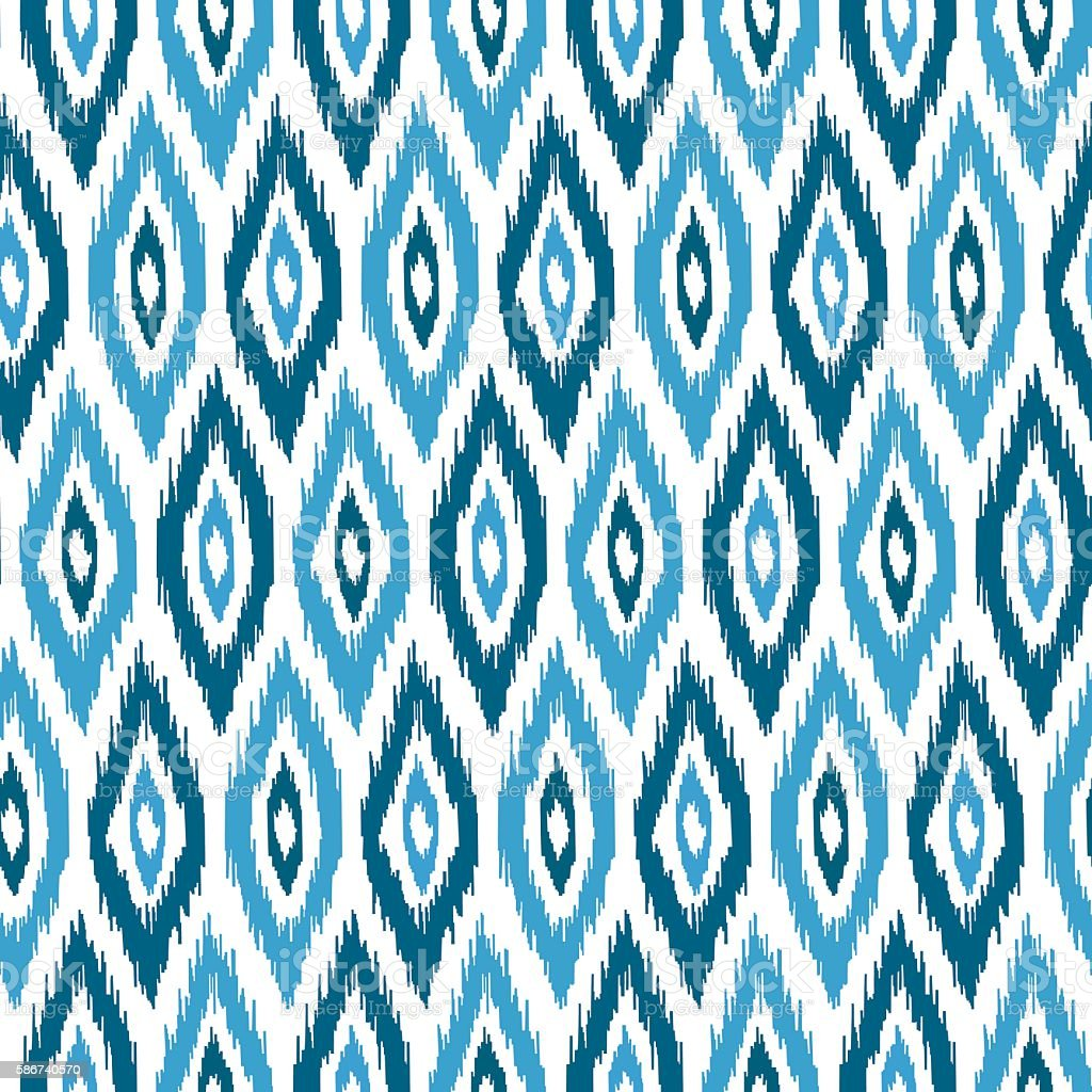 Ethnic hand drawn seamless pattern vector art illustration