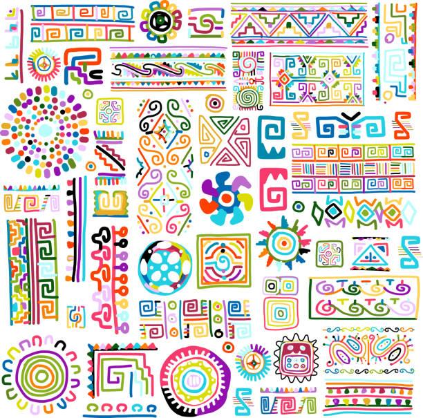 Ethnic handmade colorful ornament for your design vector art illustration