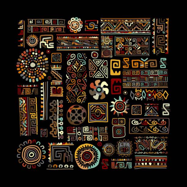 ethnic handmade ornament for your design - africa 幅插畫檔、美工圖案、卡通及圖標