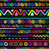 Ethnic handmade ornament, seamless pattern, vector illustration