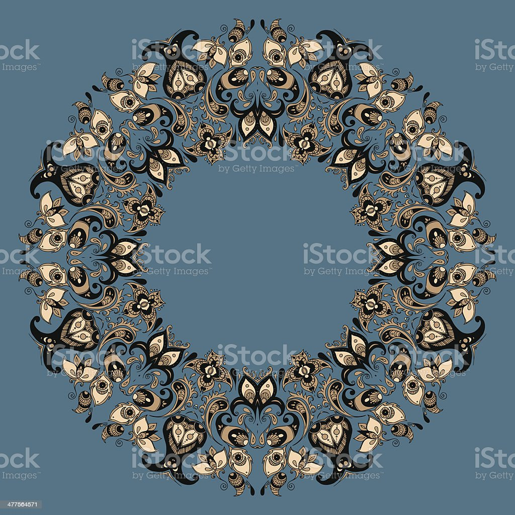 Ethnic mandala royalty-free stock vector art