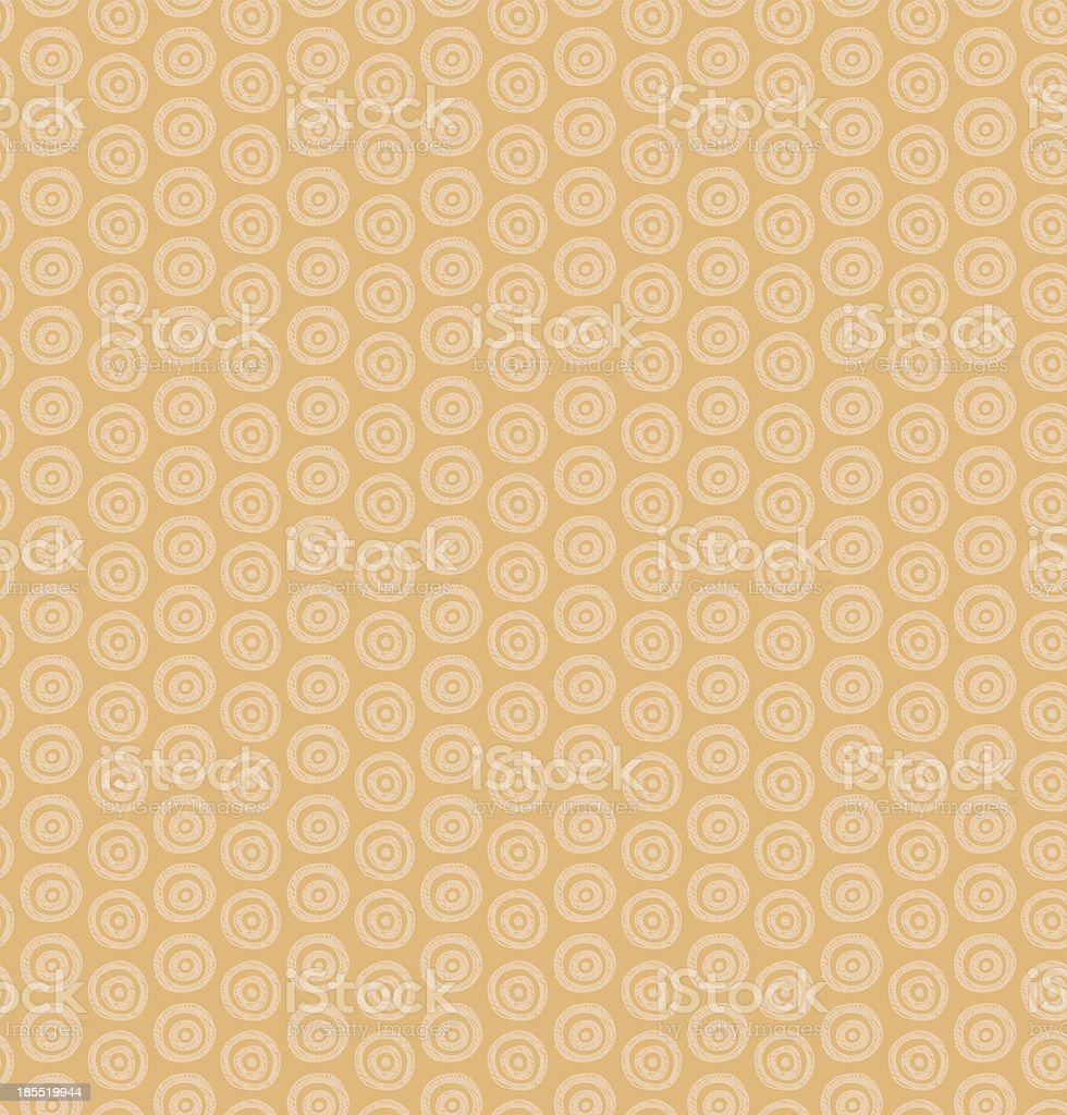 Ethnic monochrome pattern with circles vector art illustration