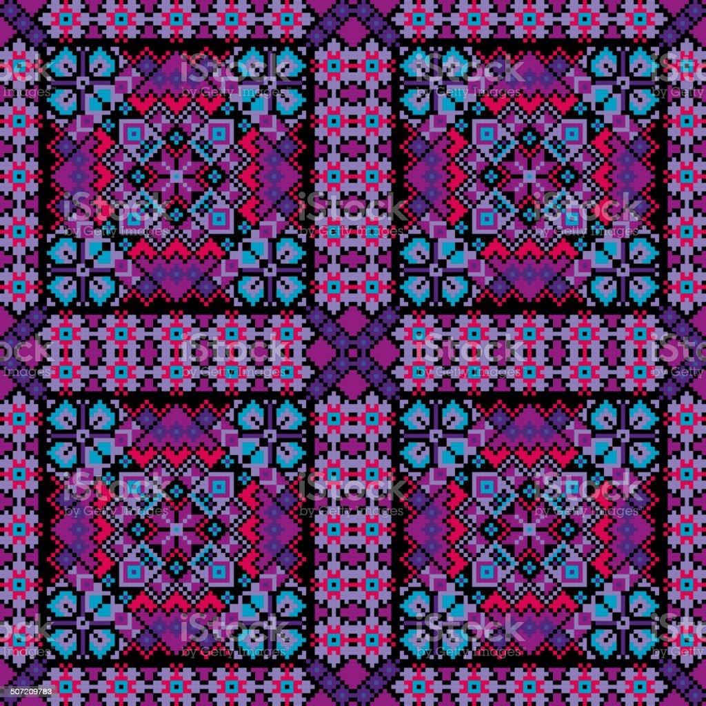 Ethnic mosaic ornamental background vector royalty-free stock vector art