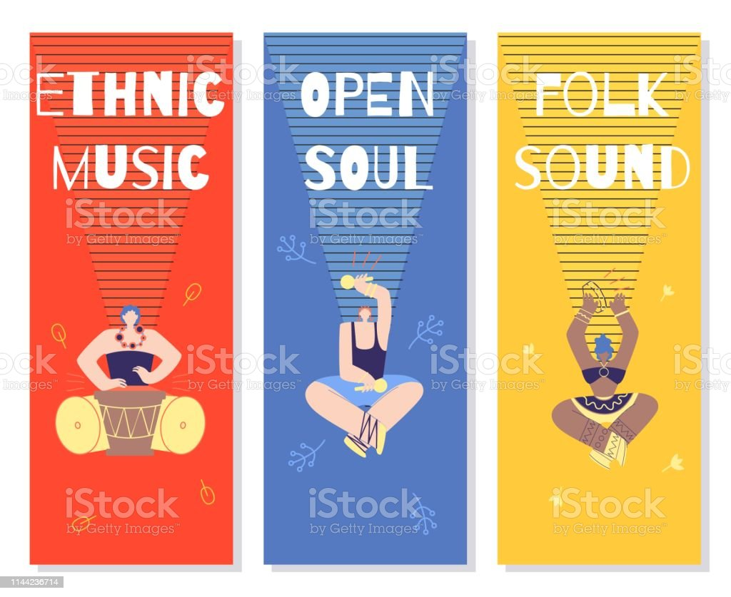Ilustración De Tarjetas De Invitación De Música étnica