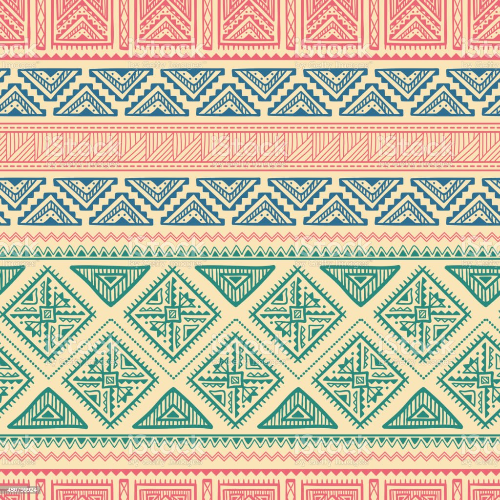 Ethnic Ornament Seamless Pattern vector art illustration
