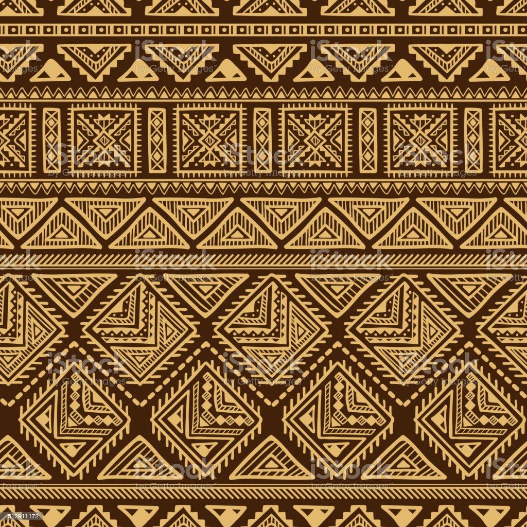 Ethnic Ornament Seamless Pattern vector art illustration