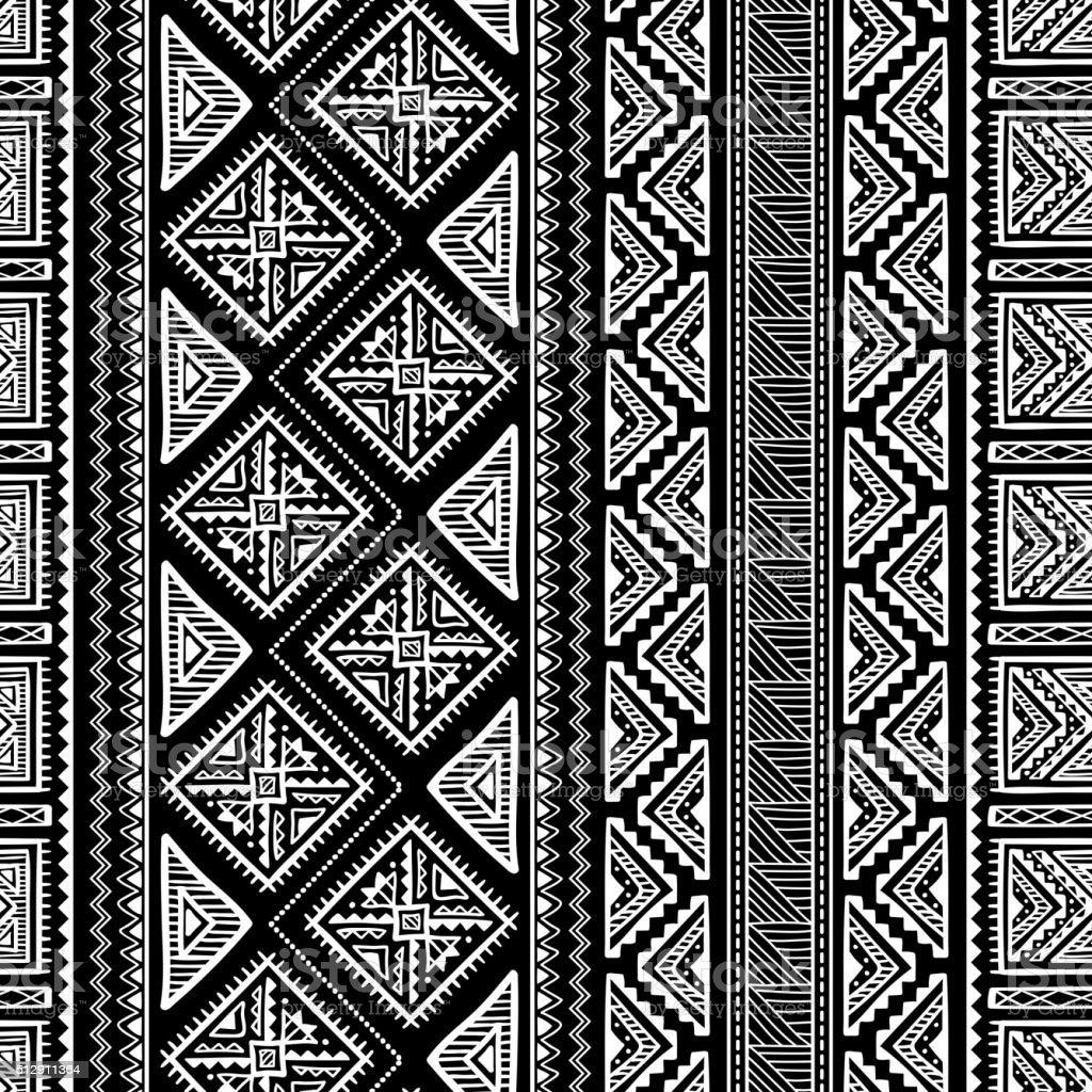 Patrón sin costuras étnico Ornament - ilustración de arte vectorial
