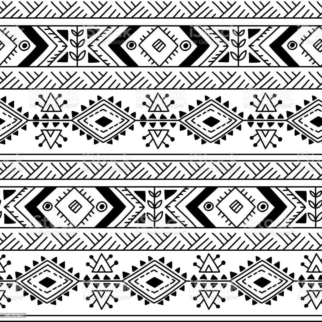 Ethnic ornamental textile seamless pattern vector art illustration