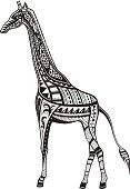 Ethnic ornamented giraffe
