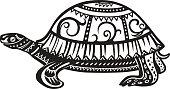 Ethnic ornamented tortoise
